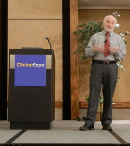 Dr Panksepp presenting at ClickerExpo